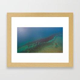 Lake Hawea lake wakatipo blue crystal clear panorama blue vertical_ Framed Art Print