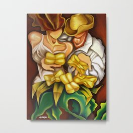 Tamales. Latino art Miguez Metal Print
