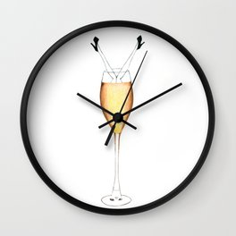 Drowning in champagne Wall Clock