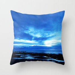 Arm from Above Plays with the Sunset Throw Pillow