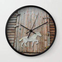 Barn Door Wall Clock