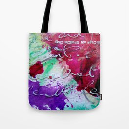 The Beauty of Silence Tote Bag