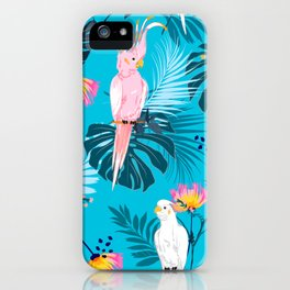 Cool Vintage Retro Animal Lover Tropical Jungle Parrot Birds Pattern iPhone Case