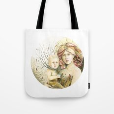 Mother Earth to her child Tote Bag