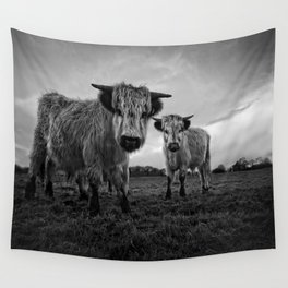 Two Shaggy Cows Wall Tapestry
