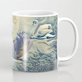 Four Swans Moon Rise Coffee Mug