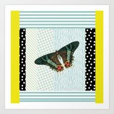 Mint butterfly Art Print