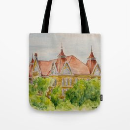 Texas State (SWT) University Old Main Building, San Marcos, TX Tote Bag
