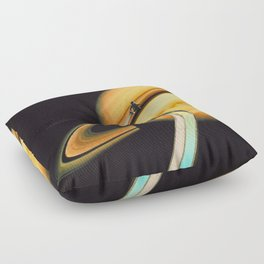 Saturn escape Floor Pillow