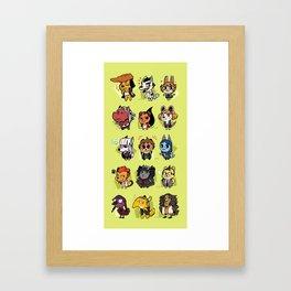 Dangan Crossing Framed Art Print