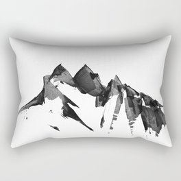 Mountain Painting | Landscape | Black and White Minimalism | By Magda Opoka Rectangular Pillow
