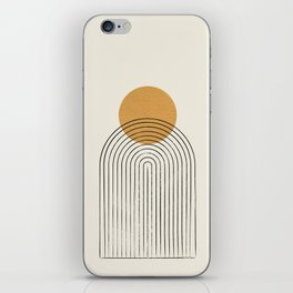 Gold Sun rainbow mountain iPhone Skin