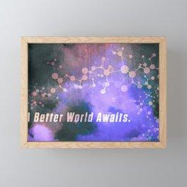 Helix: A Better World Awaits. Framed Mini Art Print
