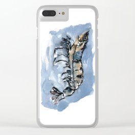 Watery Shrimp Clear iPhone Case