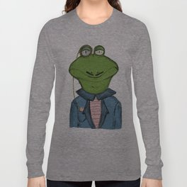 Sophisticated Frog Print Long Sleeve T-shirt