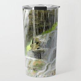 Misty Fountain Waterfall Travel Mug