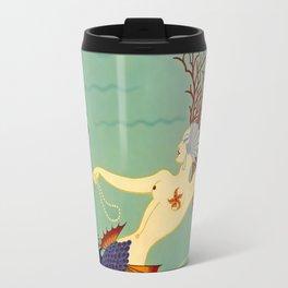 "Art Deco Illustration ""Water"" by Erté Travel Mug"
