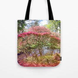 Japanese Garden And Pond Tote Bag