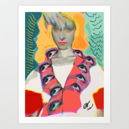 Surrealist Mystic Collage Vector Art Dora Maar Art Print
