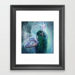 Shaman Bones Framed Art Print