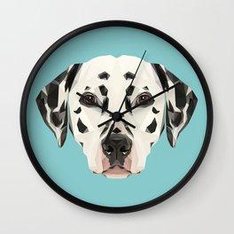 Dalmatian // Blue Wall Clock