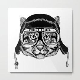 Fishing Cat Speed Rebel Metal Print