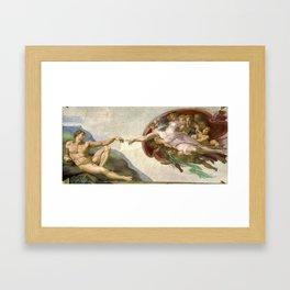Michelangelo - Creation of Adam Framed Art Print