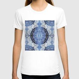 Boho Brocade Blue Mandalas T-shirt