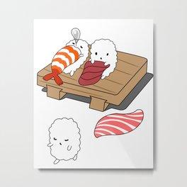 Sleep Walking Sushi, Japanese Nice  Metal Print