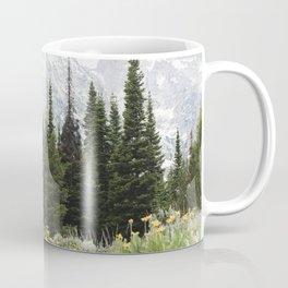 Grand Teton National Park Wildflower Adventure - Wanderlust Mountains Coffee Mug