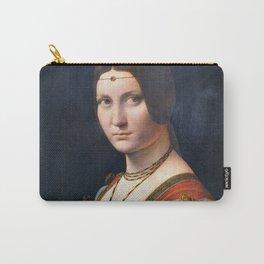 Portrait Of An Unknown Woman by Leonardo Da Vinci Carry-All Pouch
