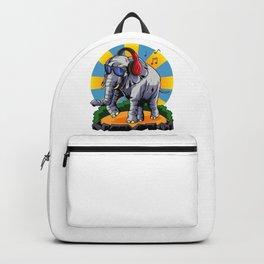 Hipster Elephant | Cool Glasses Headphones Swag Backpack
