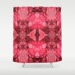 Boho Glow Handkerchief Shower Curtain