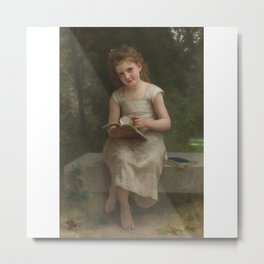 William Bouguereau 1825-1905 FRENCH LA LISEUSE Metal Print