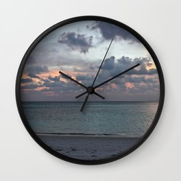Sunset in the Maldives Wall Clock