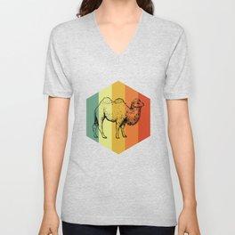 CAMEL Retro Kameel T-Shirt Unisex V-Neck