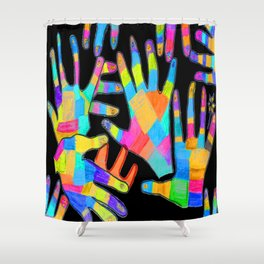 Hands of colors | Hands of light Shower Curtain