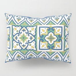 Italian Tile Pattern – Sicilian ceramic from Caltagirone Pillow Sham