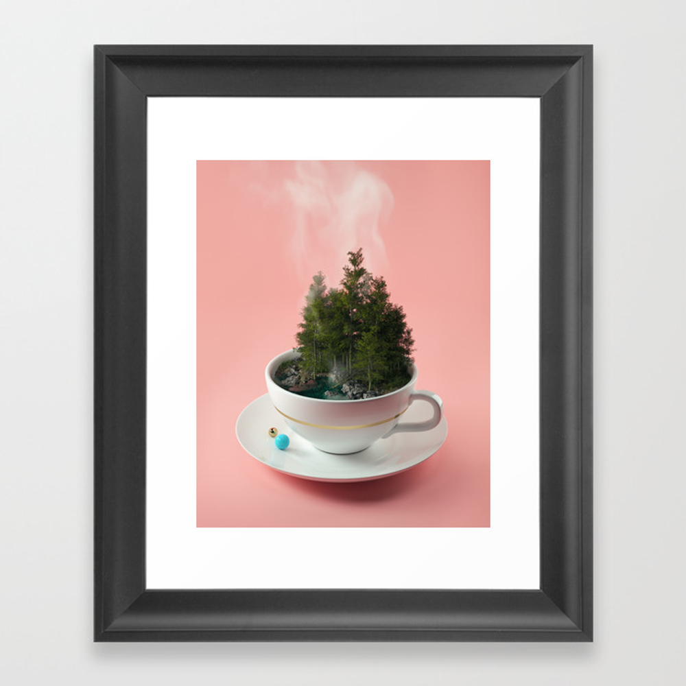 Hot Cup Of Tree Framed Art Print by Filiphodas FRM6125704