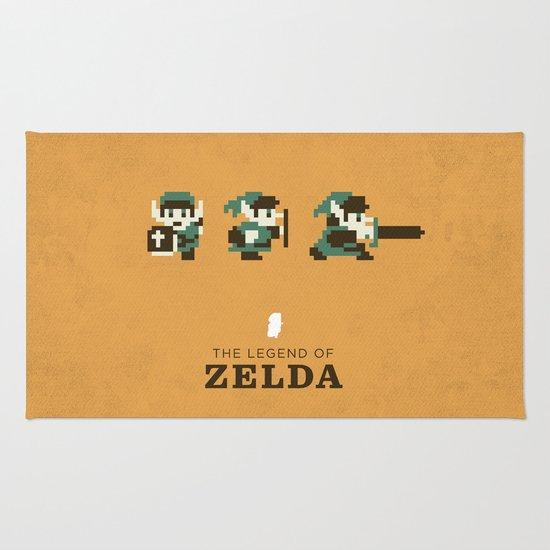 The Legend Of Zelda Rug By Brandon Riesgo