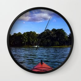Weekend on the water Wall Clock