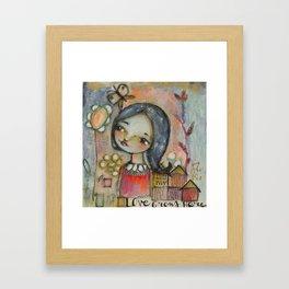 Love grows here Framed Art Print