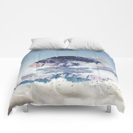 Abstract Mountains Comforters