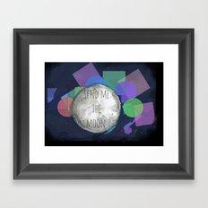 send me the moon Framed Art Print