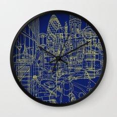 London! Navy Wall Clock