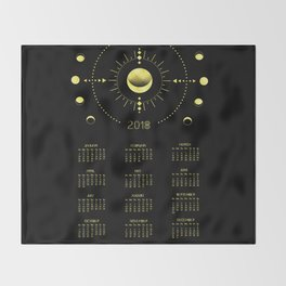 2018 Cosmic Calendar Throw Blanket