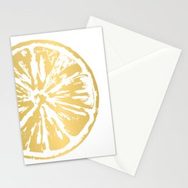 Gold Citrus Stationery Cards