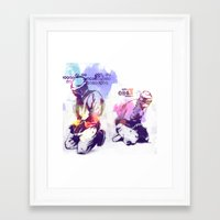 new order Framed Art Prints featuring NEW ORDER by Ƃuıuǝddɐɥ-sı-plɹoʍ-ɹǝɥʇouɐ
