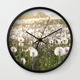 Field Full of Wishes Wall Clock