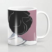 princess leia Mugs featuring Princess Leia Pop Art by Patrick Scullin